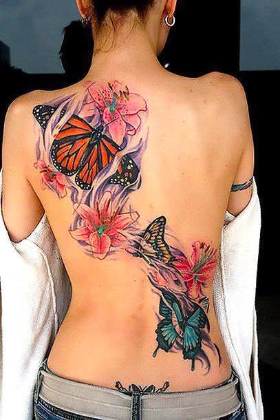 Butterfly Tattoos on Back Tattoo Idea
