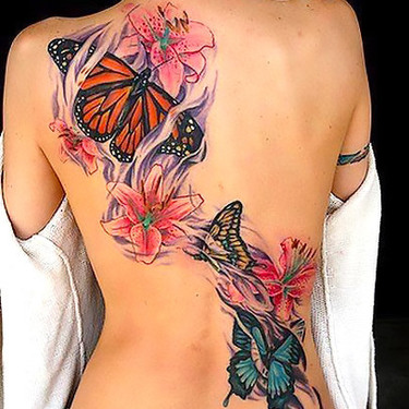Butterfly Tattoos on Back Tattoo