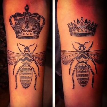 Queen and King Bee Tattoo