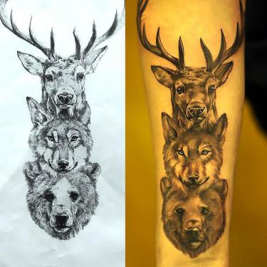 Animals Heads Tattoo