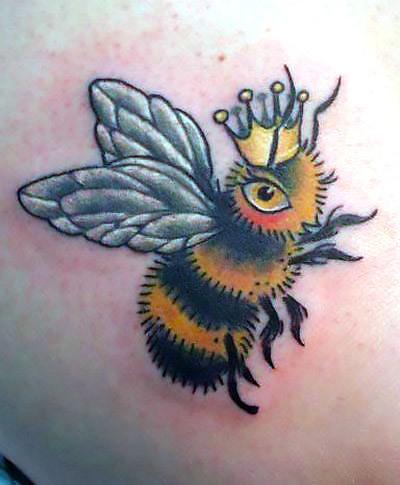 Queen Bumble Bee Tattoo Idea