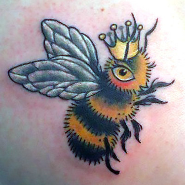 Queen Bumble Bee Tattoo