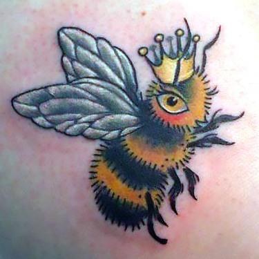 Queen Bumble Bee Tattoo