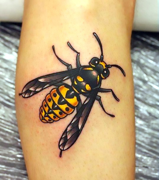 Realism Bee on The Arm Tattoo Idea