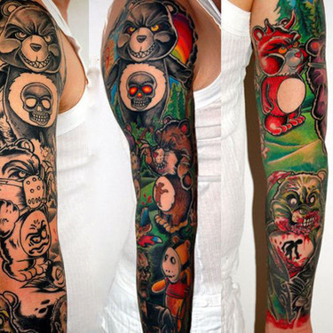 Horror Care Bears Tattoo
