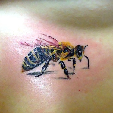 Realism Bee Tattoo