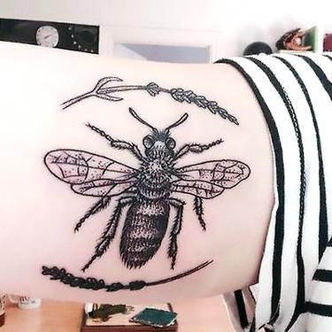 Stylish Bee Tattoo