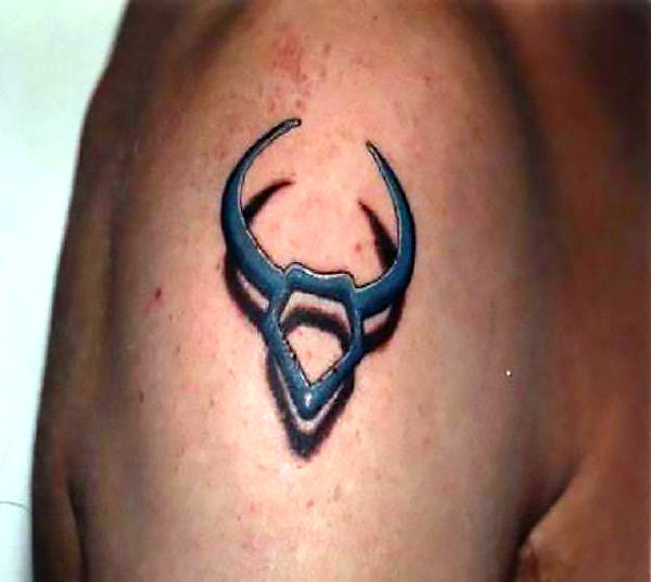 Taurus The Bull 3D Tattoo Idea