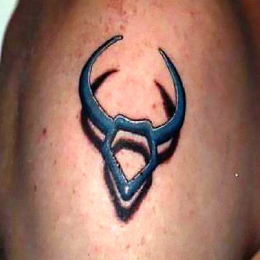 Taurus The Bull 3D Tattoo