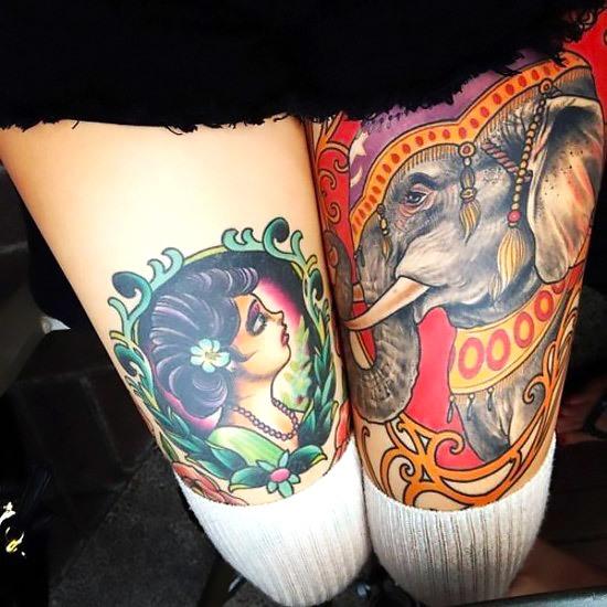 Cool Indian Elephant Tattoo Idea