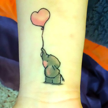 Cute Baby Elephant Tattoo