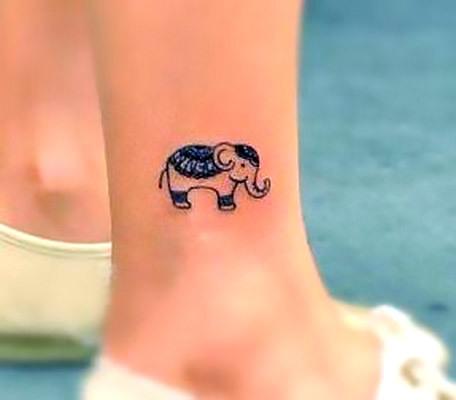 Cute Small Elephant Tattoo Idea