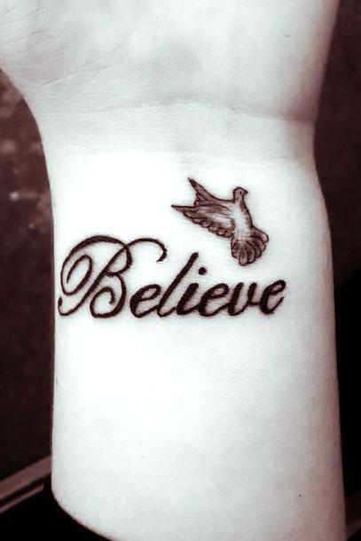 Believe on Wrist Tattoo Idea