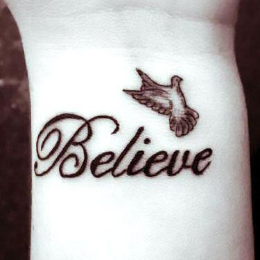 Believe on Wrist Tattoo