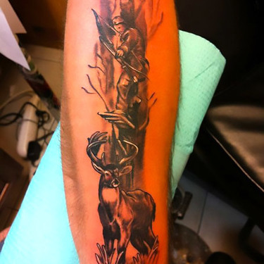 Hunting a Deer Tattoo