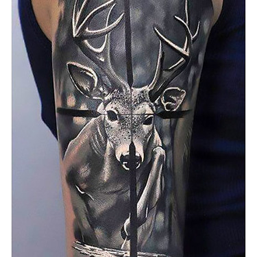 Deer Hunting Sleeve Tattoo