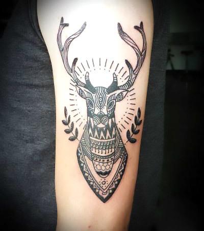 Deer on Arm Tattoo Idea