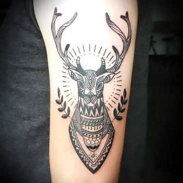 Deer on Arm Tattoo