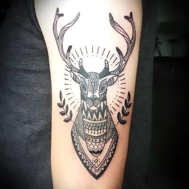 Deer on Arm Tattoo