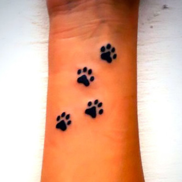 Dog Paw Prints Tattoo