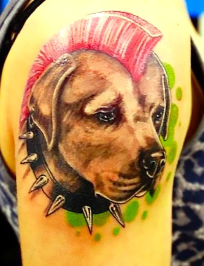 Dog Punk Tattoo Tattoo Idea
