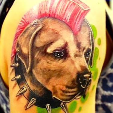 Dog Punk Tattoo Tattoo