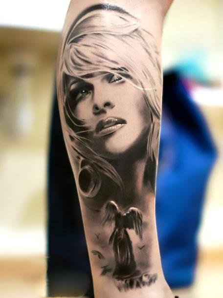 Best 3D Portrait Tattoo Idea