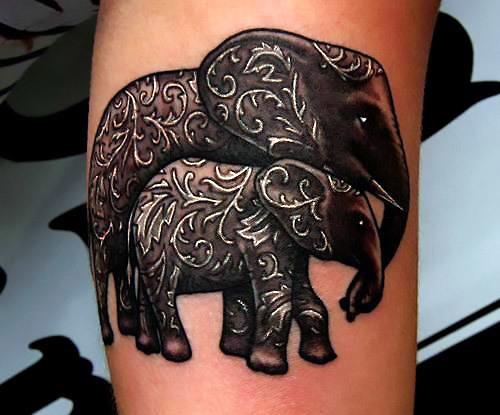 Elephant Family Tattoo Idea