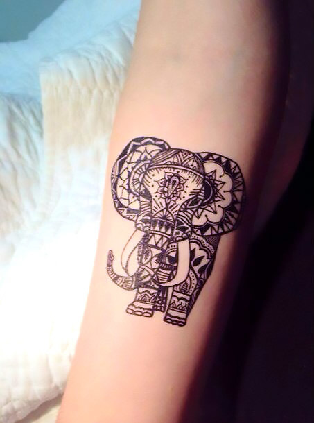 Elephant Henna Tattoo Idea