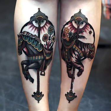 Dark Horse Carousel Tattoo