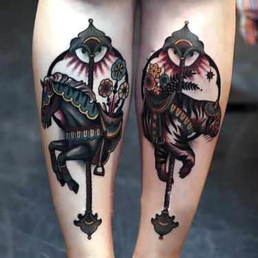 Dark Horse Carousel Tattoo