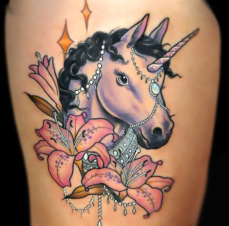 Fancy Horse Unicorn Horse Tattoo Idea
