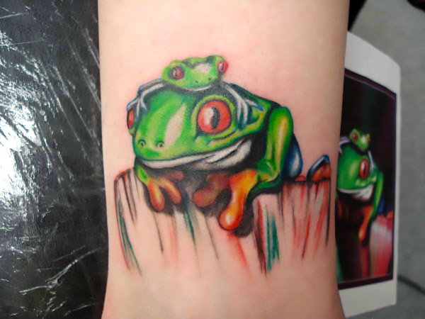 Frog Family Tattoo Idea