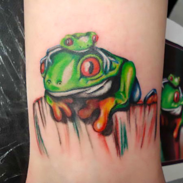 Frog Family Tattoo