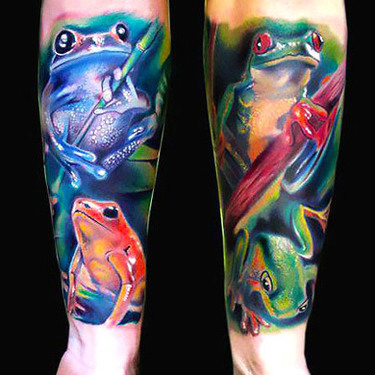 Frogs Sleeve Tattoo
