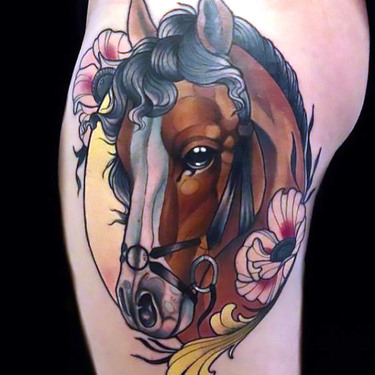 Lovely Horse Head Tattoo