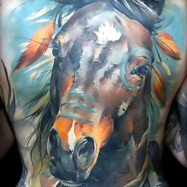 Native American Horse Tattoo