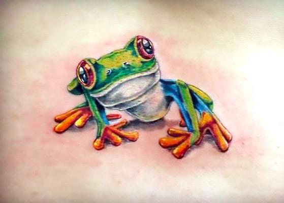 Realistic Tree Frog Tattoo Idea