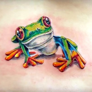 Realistic Tree Frog Tattoo