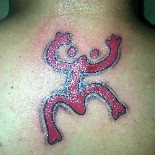 Red Taino Frog Tattoo Idea