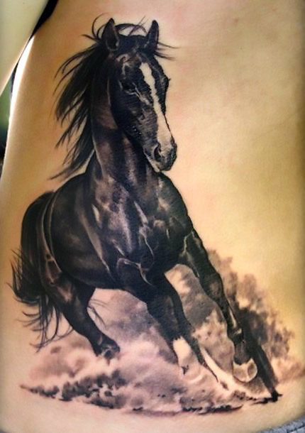 Running Dark Horse Tattoo Idea