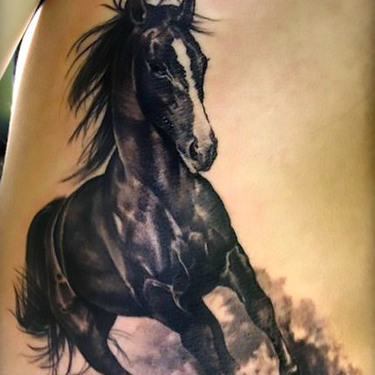Running Dark Horse Tattoo
