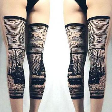Best Back of Leg Tattoo