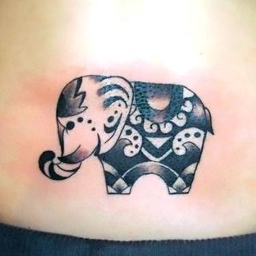 Small Beautiful Elephant Tattoo