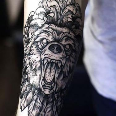 Best Bear on Forearm Tattoo
