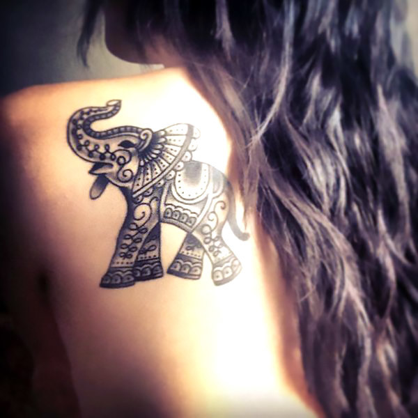 Small Indian Elephant Tattoo Idea