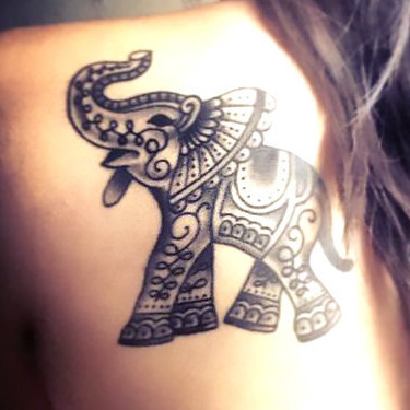Small Indian Elephant Tattoo