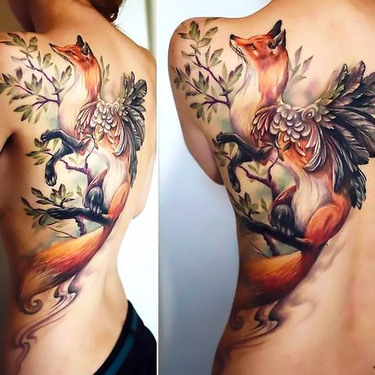 Best Fox With Wings Tattoo