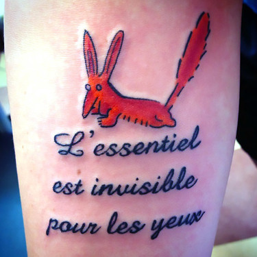The Little Prince Fox Tattoo