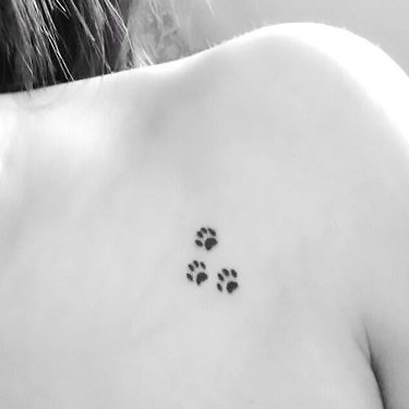 Tiny Dog Paw Print Tattoo